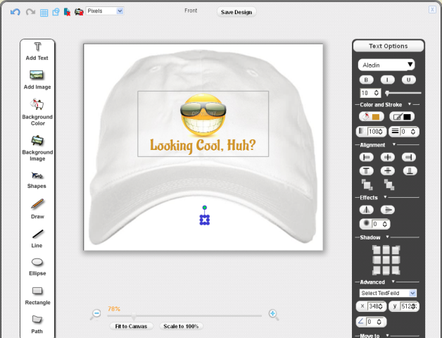 80cd1aa5dd4 Step 2 – Create Layout and Templates of Hats using Pixopa s Revolutionary  Online Design Studio