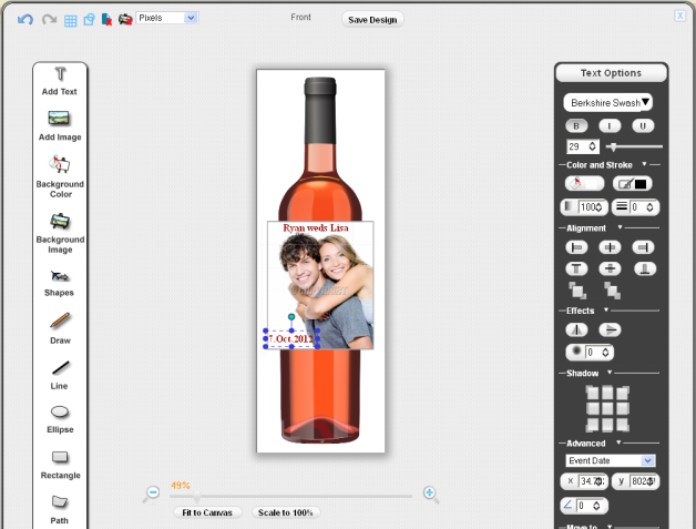 Sell Custom Wine Labels Pixopa Enterprise WebtoPrint Ecommerce - Make your own wine label template