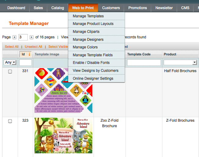 all in one online design tool magento plugin for web to print
