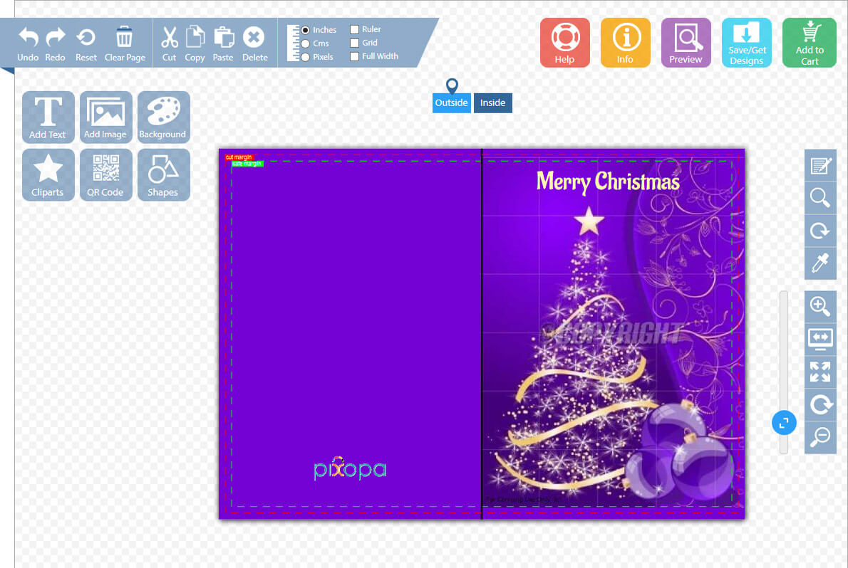 Pixopa demo pixopa enterprise web to print ecommerce greeting card kristyandbryce Image collections